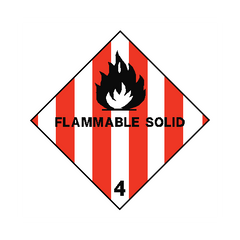 Flammable Solids Sign