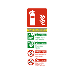 Foam Branch Pipe Extinguisher Sign | PVC Safety Signs | Health and Safety Signs
