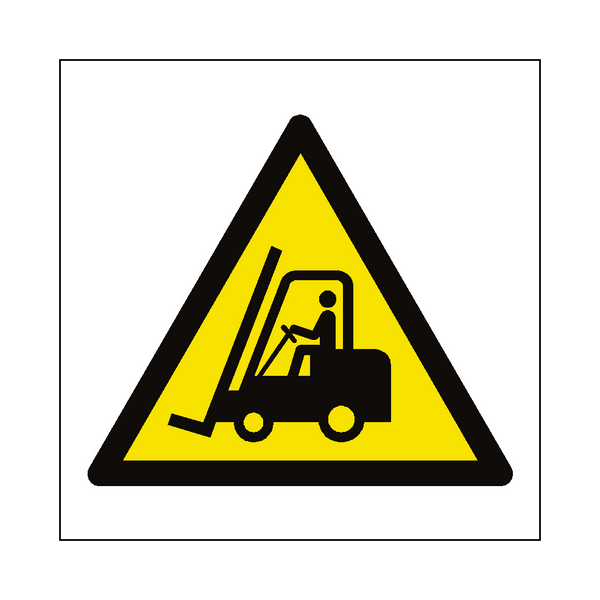 Fork Lift Truck Hazard Symbol Sign - PVC Safety Signs