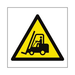 Fork Lift Truck Hazard Symbol Sign | PVC Safety Signs | Health and Safety Signs