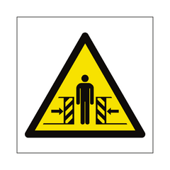 Full Crushing Hazard Symbol Sign | PVC Safety Signs | Health and Safety Signs