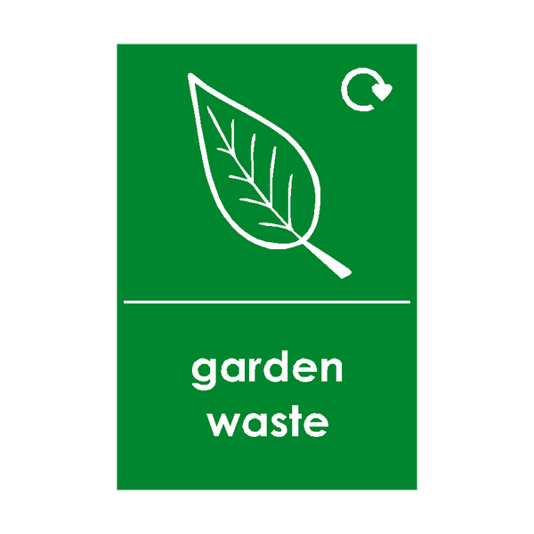Garden Waste Logo Waste Recycling Signs | PVC Safety Signs