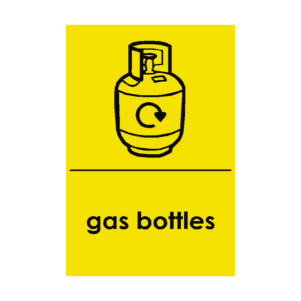 Gas Bottle Waste Recycling Sign | PVC Safety Signs