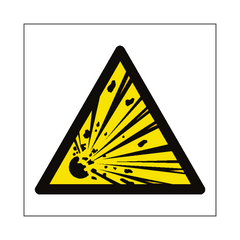General Explosive Material Hazard Symbol Sign | PVC Safety Signs | Health and Safety Signs