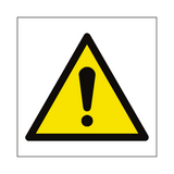 General Hazard Symbol Sign | PVCSafetySigns.co.uk