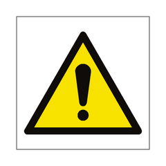 General Hazard Symbol Sign | PVC Safety Signs | Health and Safety Signs
