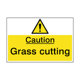 Caution Grass Cutting In Operation Sign | PVC Safety Signs