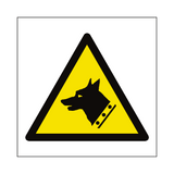 Guard Dogs Hazard Symbol Sign | PVCSafetySigns.co.uk
