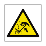 Hand Crush in Press Brake Hazard Symbol Sign | PVC Safety Signs