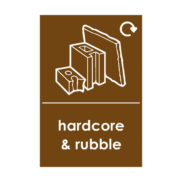 Hardcore and Rubble Waste Sign - PVC Safety Signs