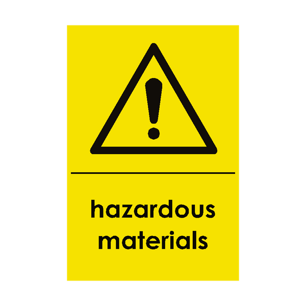 Hazardous Materials Waste Recycling Signs - PVC Safety Signs
