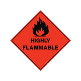 Highly Flammable Sign | PVCSafetySigns.co.uk