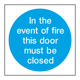 Event Of Fire Door Sign - PVC Safety Signs