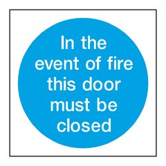 Event Of Fire Door Sign
