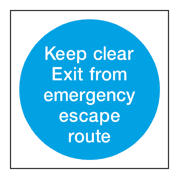Emergency Escape Route Sign | PVC Safety Signs