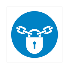 Keep Locked Symbol Sign - PVC Safety Signs | Safety Signs Specialists