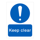 Keep Clear Door Sign - PVC Safety Signs