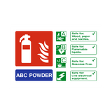 ABC Powder Extinguisher Sign - PVC Safety Signs