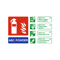 ABC Powder Extinguisher Sign | PVC Safety Signs | Health and Safety Signs