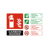 Carbon Dioxide Extinguisher Sign - PVC Safety Signs