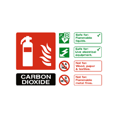 Carbon Dioxide Extinguisher Sign | PVC Safety Signs | Health and Safety Signs
