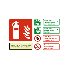 Foam Spray Extinguisher Sign | PVC Safety Signs | Health and Safety Signs