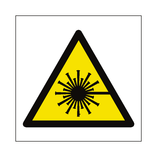 Laser Beam Hazard Symbol Sign - PVC Safety Signs