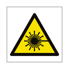 Laser Beam Hazard Symbol Sign | PVC Safety Signs | Health and Safety Signs
