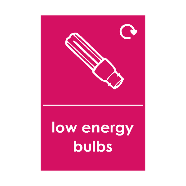 Low Energy Bulb Waste Sign - PVC Safety Signs