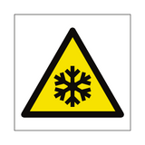 Low Temperature Hazard Symbol Sign | PVCSafetySigns.co.uk