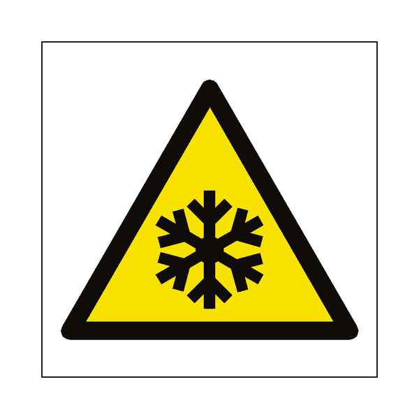 Low Temperature Hazard Symbol Sign - PVC Safety Signs
