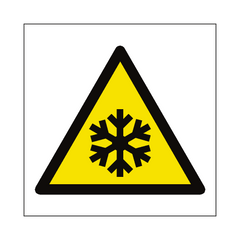 Low Temperature Hazard Symbol Sign | PVC Safety Signs | Health and Safety Signs