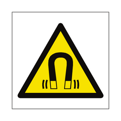 Magnetic Field Hazard Symbol Sign | PVC Safety Signs | Health and Safety Signs