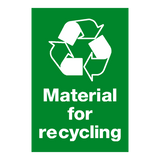 Material For Recycling Sign - PVC Safety Signs