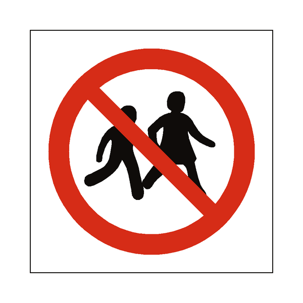 No Children Allowed Symbol Sign | PVCSafetySigns.co.uk