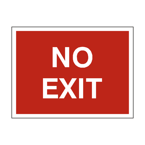 No Exit Traffic Sign Pvc Safety Signs