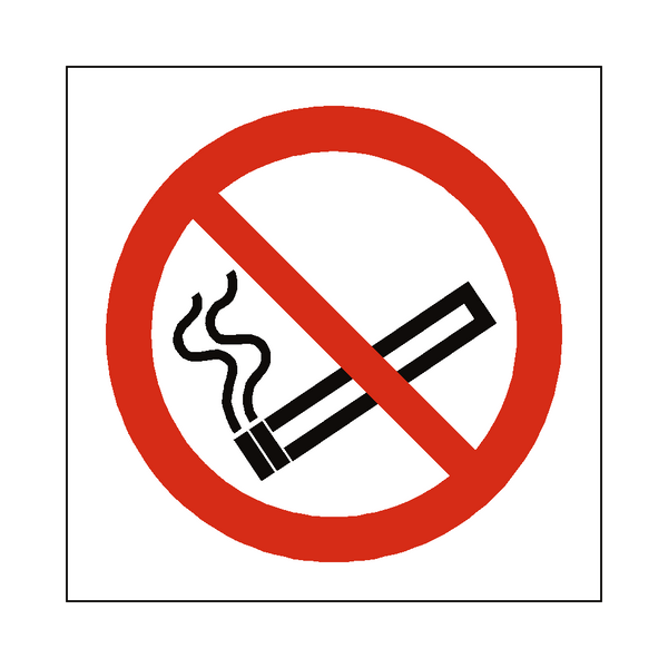 No Smoking Prohibition Symbol Sign | PVC Safety Signs