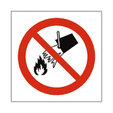 Do Not Extinguish With Water Sign - PVC Safety Signs