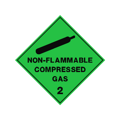 Non Flammable Compressed Gas Sign