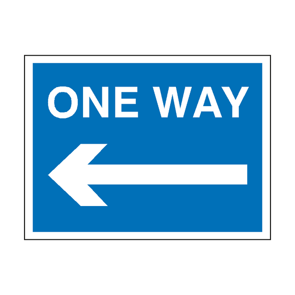 One Way Arrow Left Traffic Sign - PVC Safety Signs