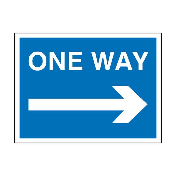 One Way Arrow Right Traffic Sign | PVC Safety Signs