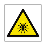 Optical Radiation Hazard Symbol Sign | PVC Safety Signs