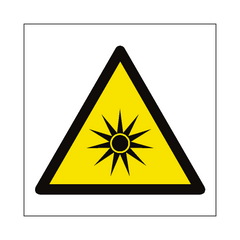 Optical Radiation Hazard Symbol Sign | PVC Safety Signs | Health and Safety Signs