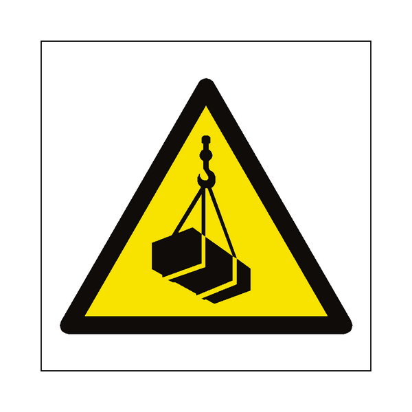 Overhead Load Hazard Symbol Sign | PVCSafetySigns.co.uk