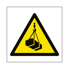Overhead Load Hazard Symbol Sign | PVC Safety Signs | Health and Safety Signs