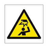 Overhead Obstacles Hazard Symbol Sign | PVC Safety Signs