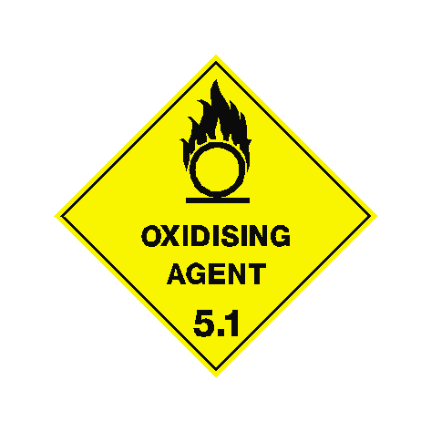 Oxidising Agent Sign | PVCSafetySigns.co.uk