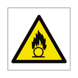 Oxidising Hazard Symbol Sign | PVCSafetySigns.co.uk