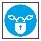 Keep Locked Symbol Door Sign | PVCSafetySigns.co.uk