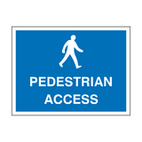 Pedestrian Access Sign - PVC Safety Signs